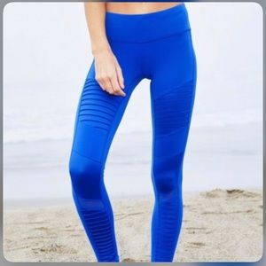 Alo Blue Moto Leggings